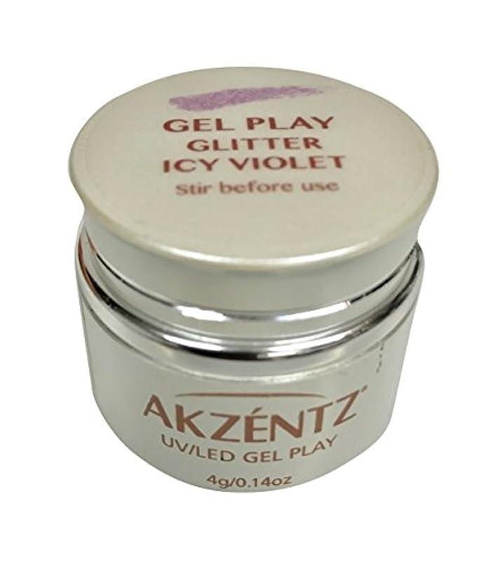 時刻表値する直接AKZENTZ(アクセンツ) UV/LED ジェルプレイ グリッター アイシーバイオレット 4g