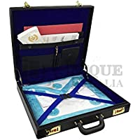 Masonic Regalia MM/WM Mason Apron Hard Case/Briefcase