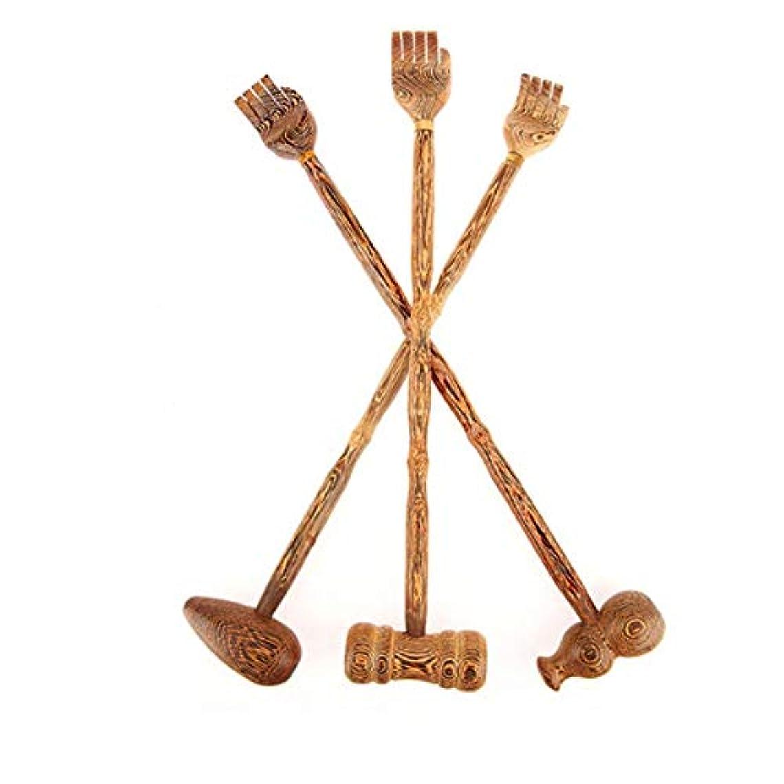 買収フェデレーション振る舞うTinygrass木製バックスクラッチャーウッドバックスクレーパースクラッチマッサージャーバックスクラッチャーボディマッサージャーハンマー健康製品(色:ウッドカラー)
