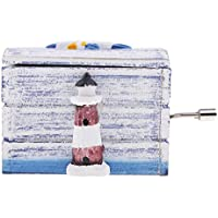 FLAMEER ハンドクランク ミュージックボックス 4スタイル選べる ロマンティックな プレゼント ヴィンテージ オルゴール メロディー天空の城 - スタイル3