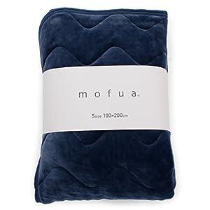 mofua ( モフア ) 敷きパッド うっとりなめらかパフ シングル ネイビー 55820107