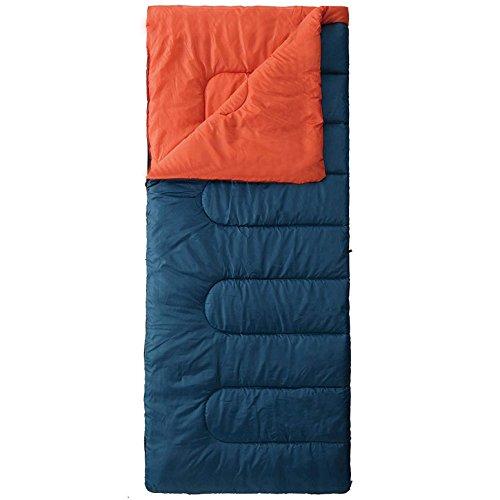 寝袋 封筒型 軽量 sleepingbag アウトドア 登山 車中泊 丸洗い 夏用 冬用 収納袋付き1.4kg E (Blue F/1.4kg)