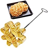 Dok Jok Brass Mold Thai Crispy Lotus Blossom Cookies Sunflower Cookie Maker Lotus Flower Biscuit 4 In.