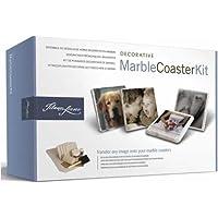 Tilano Fresco Decorative Marble Photo Coaster Kit