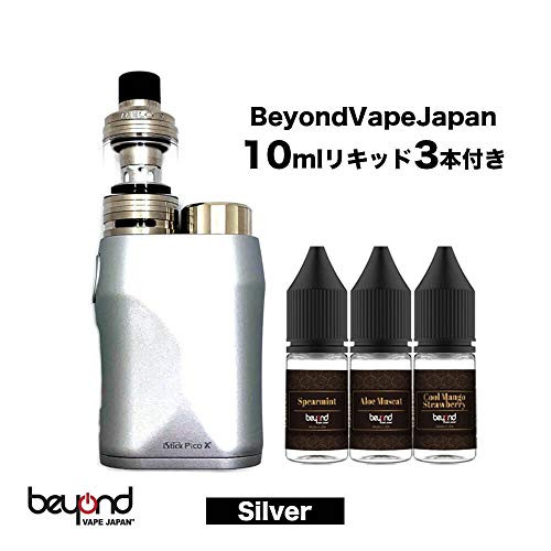 【BeyondVapeJapan】 最新 電子タバコ 【eleaf】iStick Pico X with MELO 4 BeyondVapeJapan10mlリキッド3本付き【VAPE用 juul販売中】 Silver