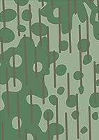 igsticker ポスター ウォールステッカー シール式ステッカー 飾り 297×420㎜ A3 写真 フォト 壁 インテリア おしゃれ 剥がせる wall sticker poster 004011 チェック・ボーダー 模様 緑