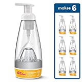 Clean Revolution Foaming Hand Soap Deluxe Starter Kit- Makes 6 bottles/72 total oz. Includes Reusable, Aluminum Lined Soap Dispenser + One Refill Pod, Dreamy Citrus Scent, Non-Toxic, Eco-Friendly
