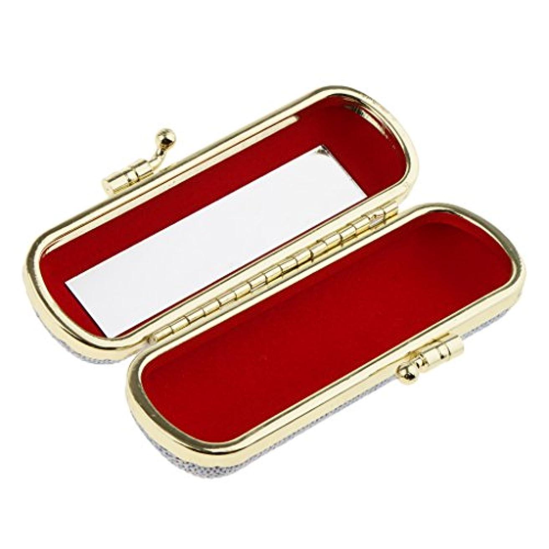 手首行政ダウンタウン化粧ポーチ 口紅ホルダー リップスティック リップグロス 収納ケース ミラー付き 小物入り メイクアップ ランダム色 - #3