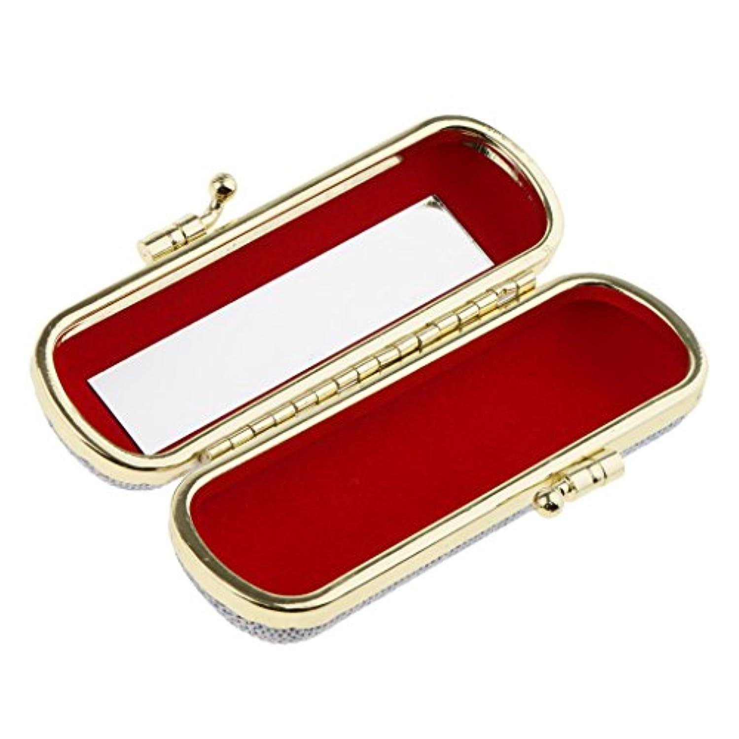 ジムトランジスタ冊子化粧ポーチ 口紅ホルダー リップスティック リップグロス 収納ケース ミラー付き 小物入り メイクアップ ランダム色 - #3