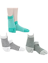 RVÉSCHZ メンズ スニーカー 足袋 ソックス 無地 抗菌防臭 タビ男性 3足セット 25-27cm
