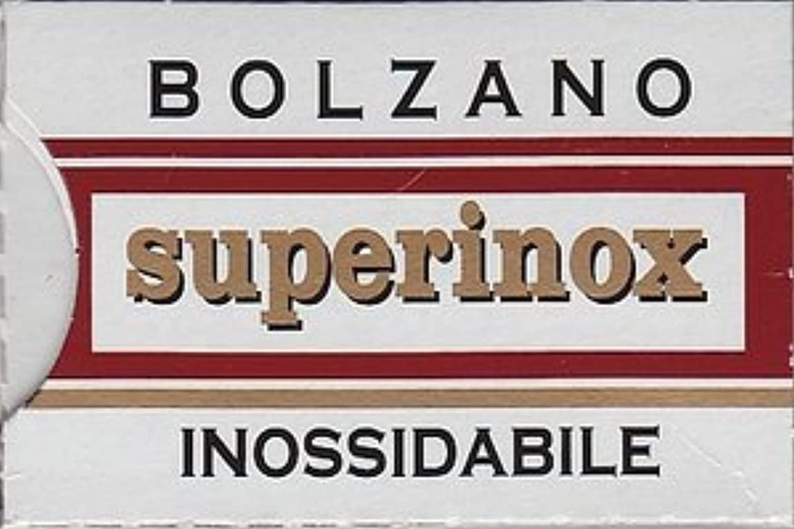 利益スプリット政治家のBolzano Superinox Inossidabile 両刃替刃 5枚入り(5枚入り1 個セット)【並行輸入品】