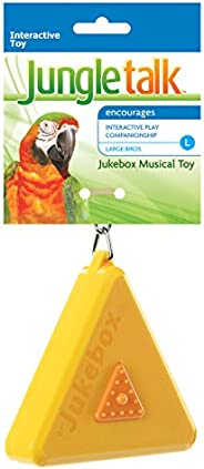 Jungle Talk JT-2001AAU Musical Jukebox Large Toy For Birds, Small