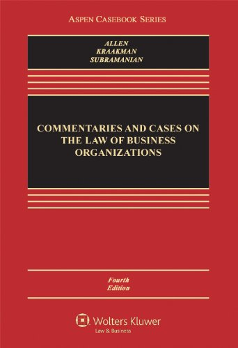 Download Commentaries and Cases on the Law of Business Organization (Aspen Casebook Series) 145481361X