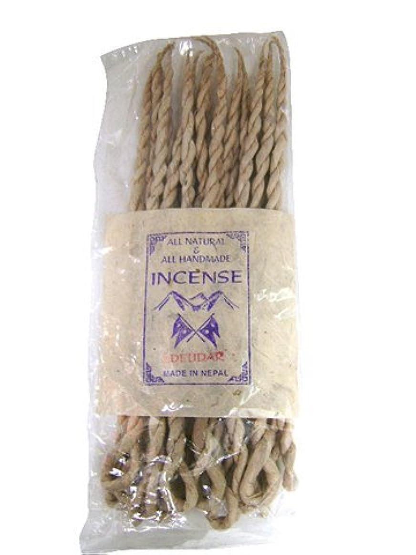 植生ダース腹NEPAL INCENSE 日本では当店でのみ販売 ネパールの高級ねじり香(ロープ) デウダル