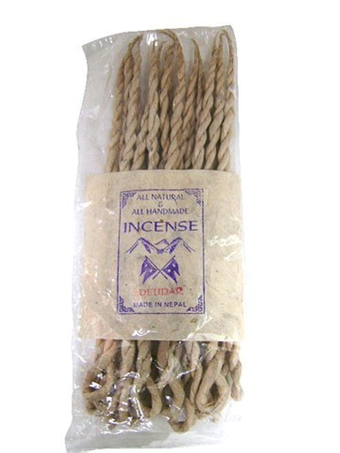 歴史崇拝しますフィドルNEPAL INCENSE 日本では当店でのみ販売 ネパールの高級ねじり香(ロープ) デウダル