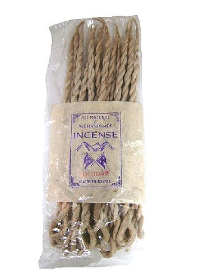 争う音声学宿るNEPAL INCENSE 日本では当店でのみ販売 ネパールの高級ねじり香(ロープ) デウダル