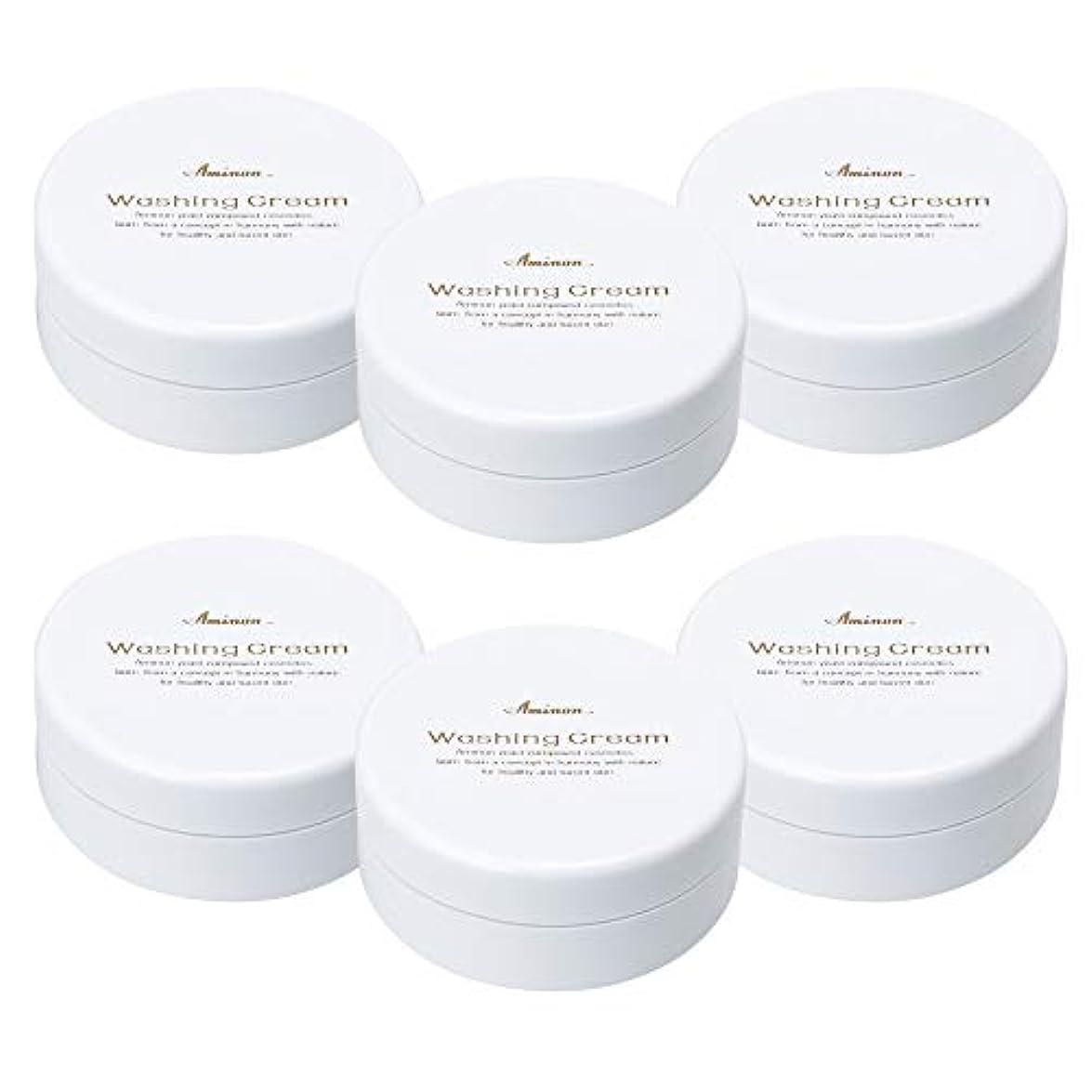 後ろにアブストラクトアミノン 洗顔クリーム 90g (6個セット)