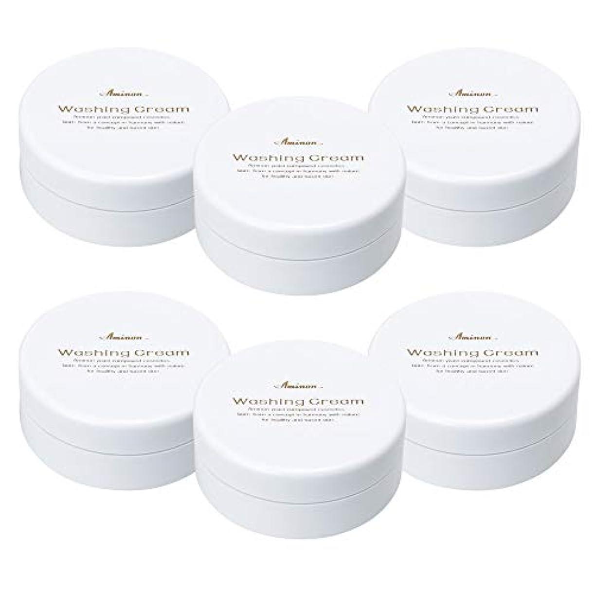 被害者技術効能アミノン 洗顔クリーム 90g (6個セット)