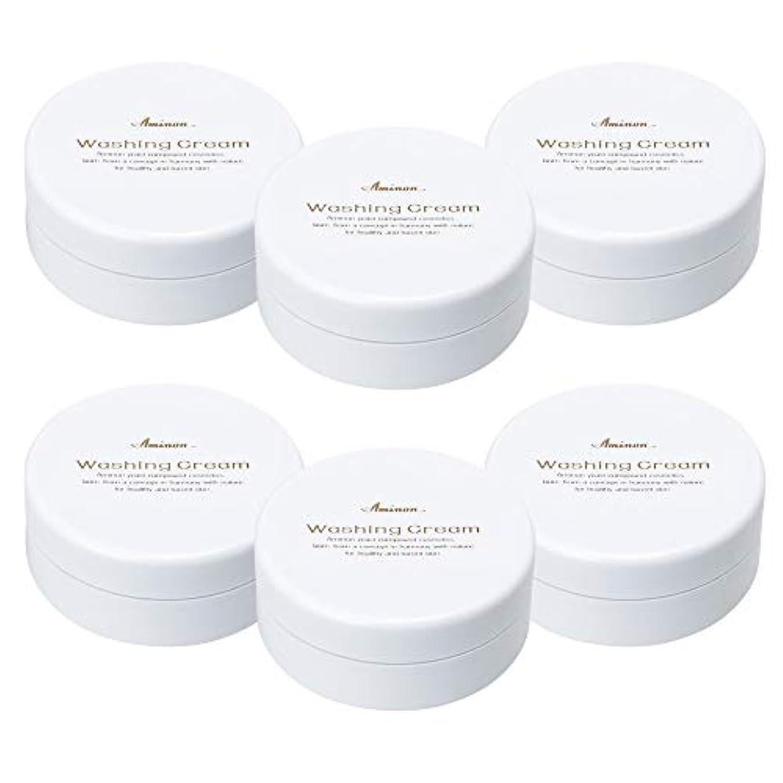 廃棄ステップ波紋アミノン 洗顔クリーム 90g (6個セット)