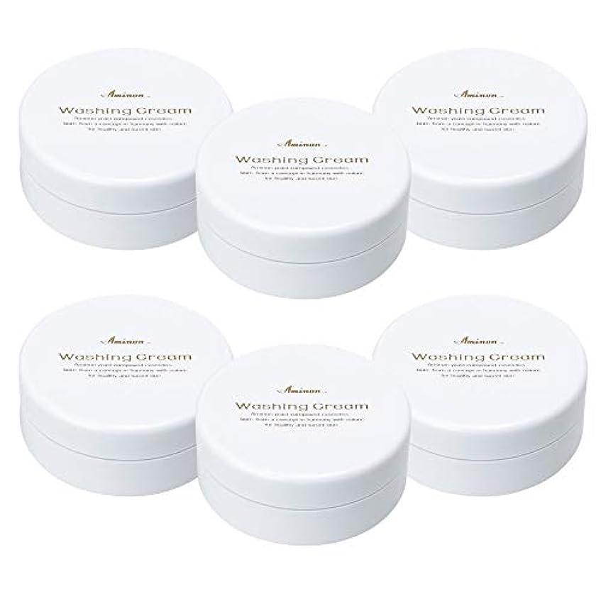 速度ランチョン扱うアミノン 洗顔クリーム 90g (6個セット)