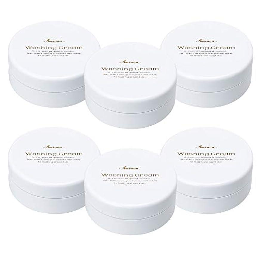 好色な円形違反アミノン 洗顔クリーム 90g (6個セット)
