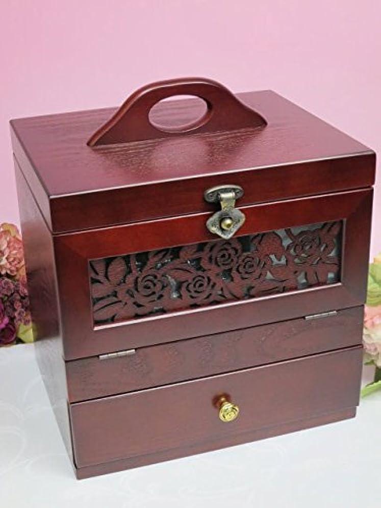 新年しつけ債務木製 コスメティックボックス アンジェラ メイクボックス 化粧箱 化粧品 コスメボックス