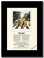 - Beatles - Abbey Road Print Ad - つや消しマウントマガジンプロモーションアートワーク、ブラックマウント Matted Mounted Magazine Promotional Artwork on a Black Mount
