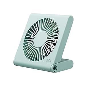 ピエリア 卓上扇風機 スリムコンパクトファン 3電源(AC,USB,乾電池) ブルー FSR-106U BL