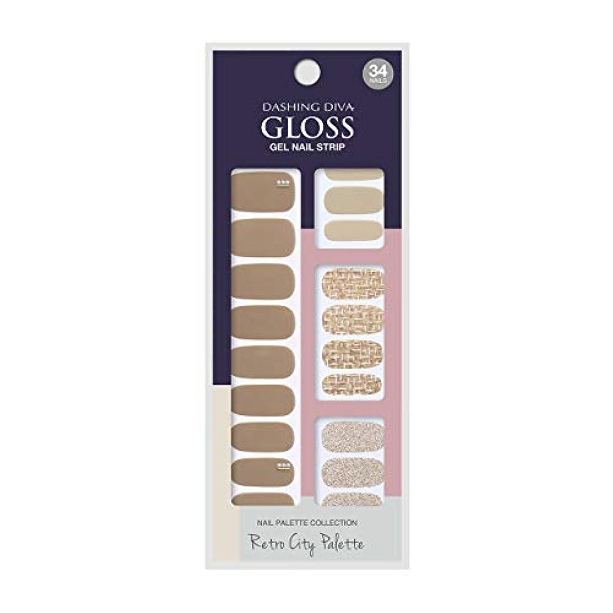 フェード泣く計画的ダッシングディバ グロスジェル ネイルストリップ DASHING DIVA Gloss Gel Nail Strip GVP85 -DURY+ オリジナルジェル ネイルシール Tailor Shop