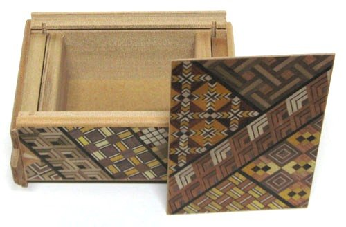 民芸品 工芸品 海外向けおみやげ 箱根 組み木細工 4寸 秘密箱 10回