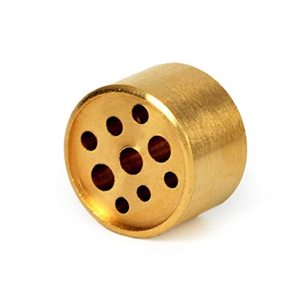 シャンパンマスク文明化AFZSHG 純銅 9穴 小さなお香スティックホルダー 色あせなし 1.2オンス (34g)