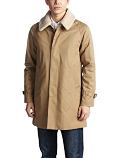 Beauty & Youth Boa Cotton Gabardine Coat 1225-174-6351: Beige