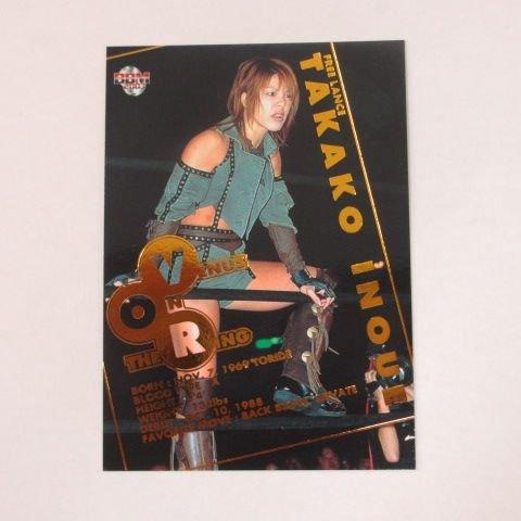 [해외]BBM2003 여자 프로 레슬링 카드 | TRUE HEART ■ 인서트 카드 ■ VR9 | 이노우에 타카코/BBM 2003 women`s professional wrestling card | TRUE HEART ■ insert card ■ VR 9 | Takako Inoue