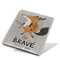 Book Cover ブックカバー 防水 PUレザー(ノートブック用)プリント ヴィンテージ Size 28*51 Cm 狐 矢印 動物