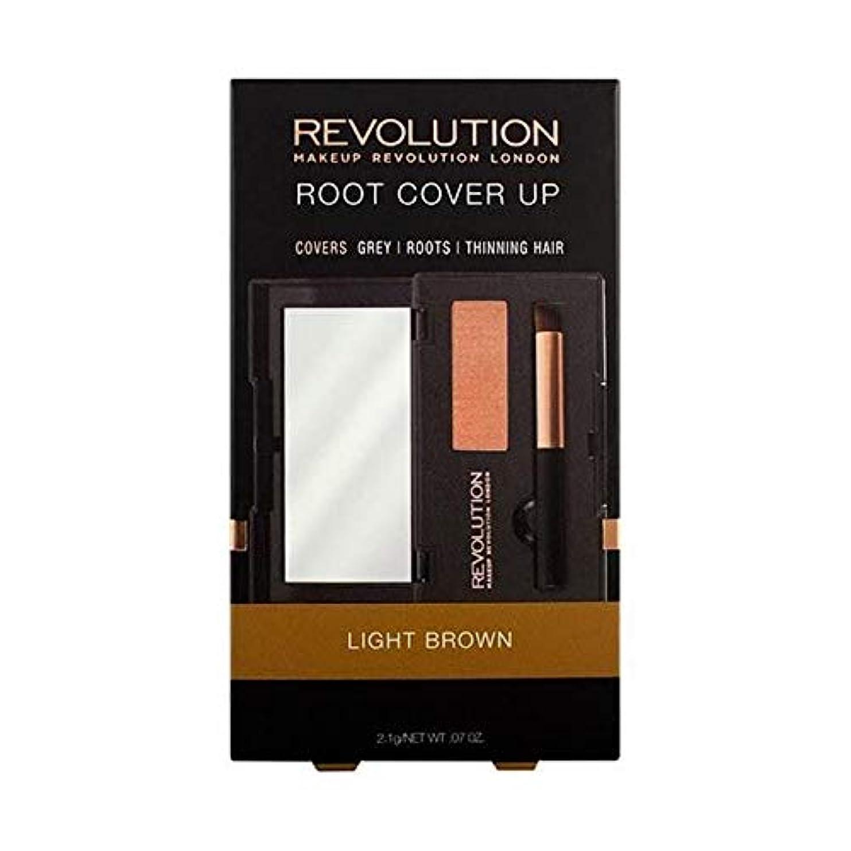 ペイン麻痺させるかんたん[Hair Revolution ] ヘア革命のルートライトブラウンをカバー - Hair Revolution Root Cover Up Light Brown [並行輸入品]