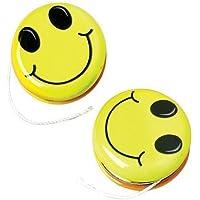 Metal Smile Smiley Face Yo Yo's (12) [並行輸入品]