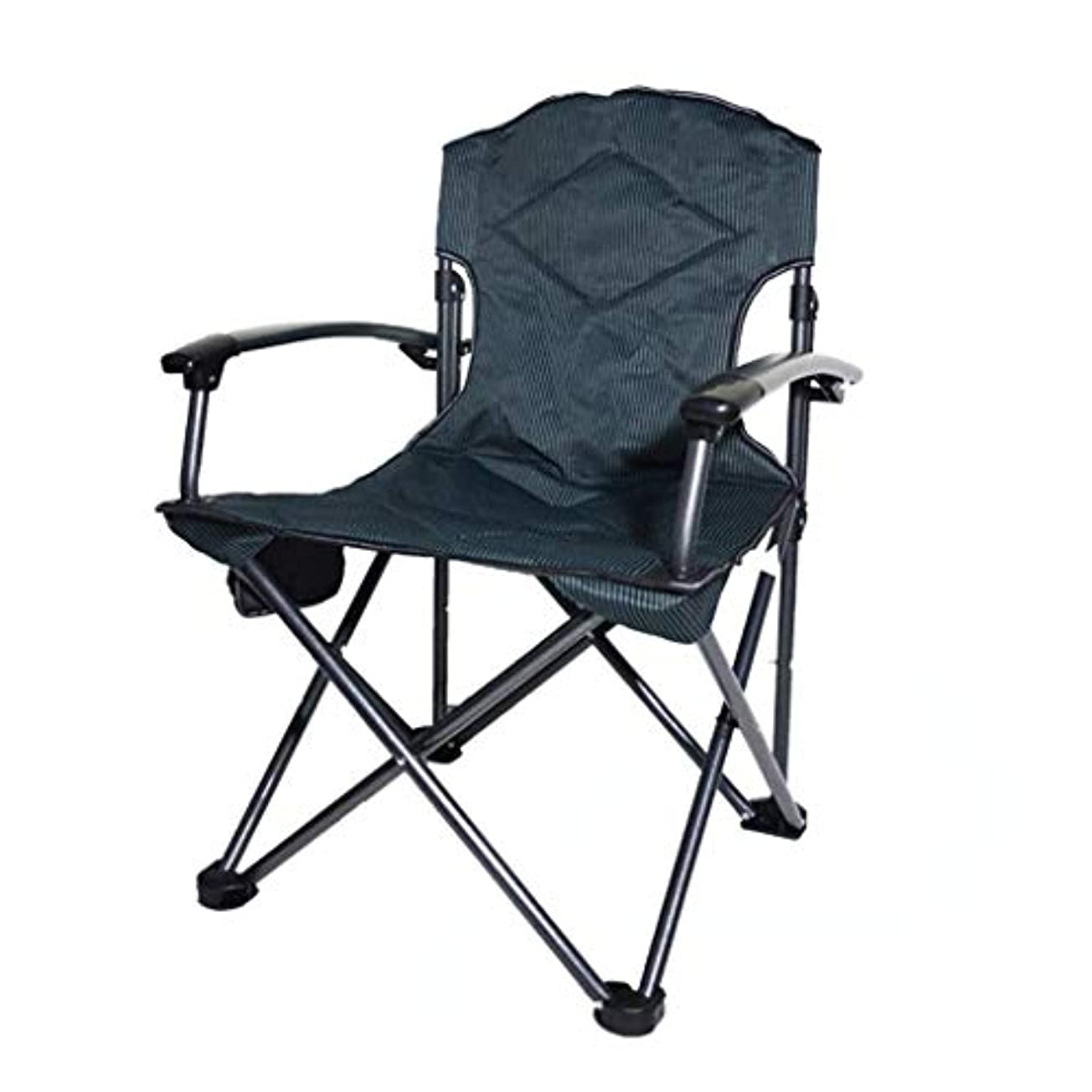 雪だるま備品作曲する携帯用キャンプチェア、アームレスト付き、カップホルダー付き折りたたみチェア屋外用、通気性、ハイキング、ピクニック、釣り、フェスティバルヘビーデューティ300ポンド容量,A