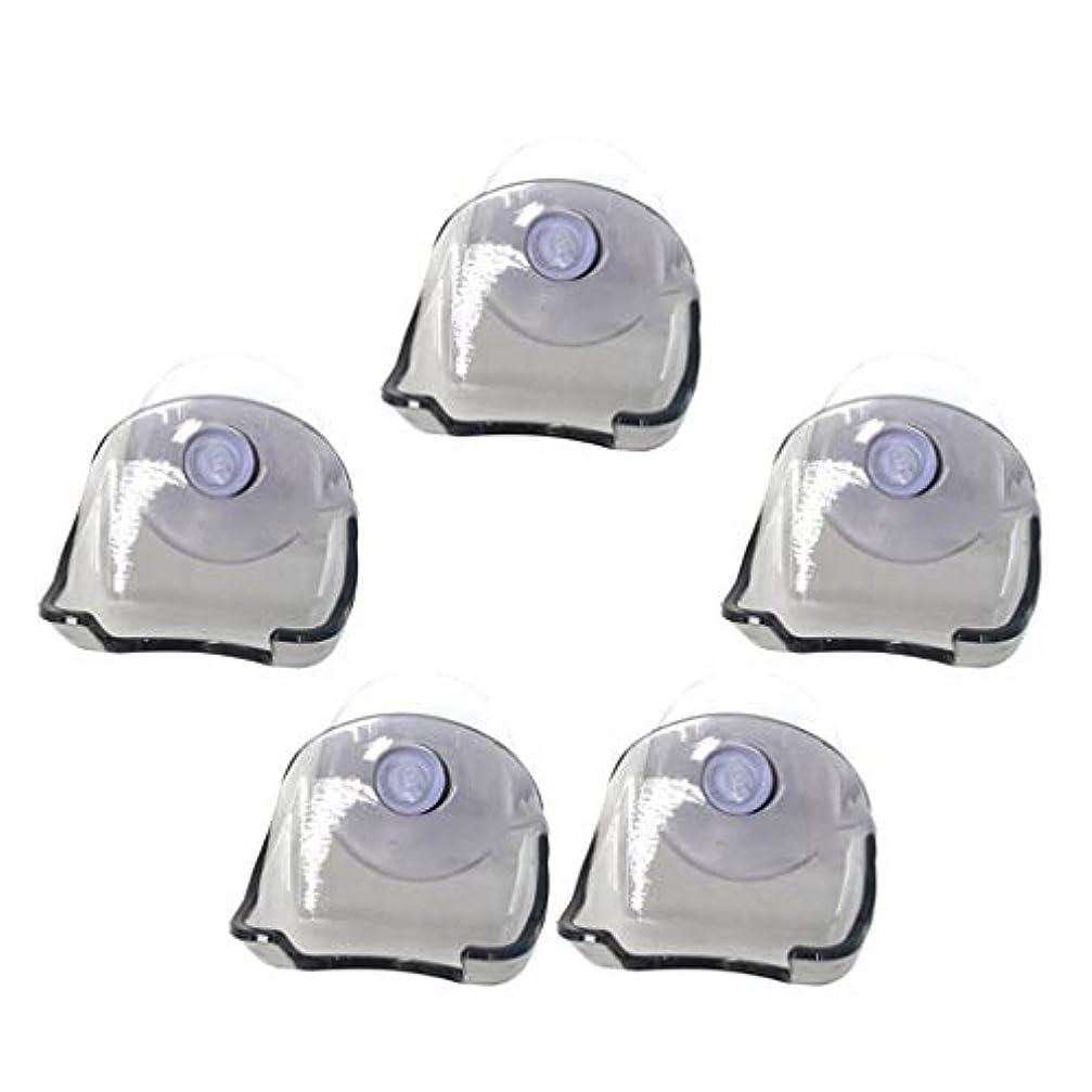攻撃的シンカンアンドリューハリディsharprepublic シェーバーラック シェーバーホルダー スタンド プラスチック製 吸盤式 洗面台 ホテル 5個 全2色 - グレー
