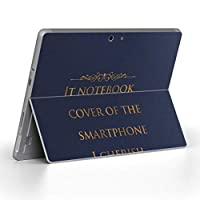 Surface go 専用スキンシール サーフェス go ノートブック ノートパソコン カバー ケース フィルム ステッカー アクセサリー 保護 本 英語 ネイビー 011336