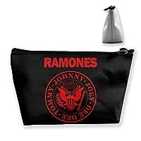 Ramonesラモーンズ 収納バッグ 化粧ポーチ メイクポーチ コスメ収納ケース ラダー 旅行メイクバッグ 洗面用具 小物入れ 旅行用品 防水仕様 可愛いバック Makeup Pouch 細かく整理できる