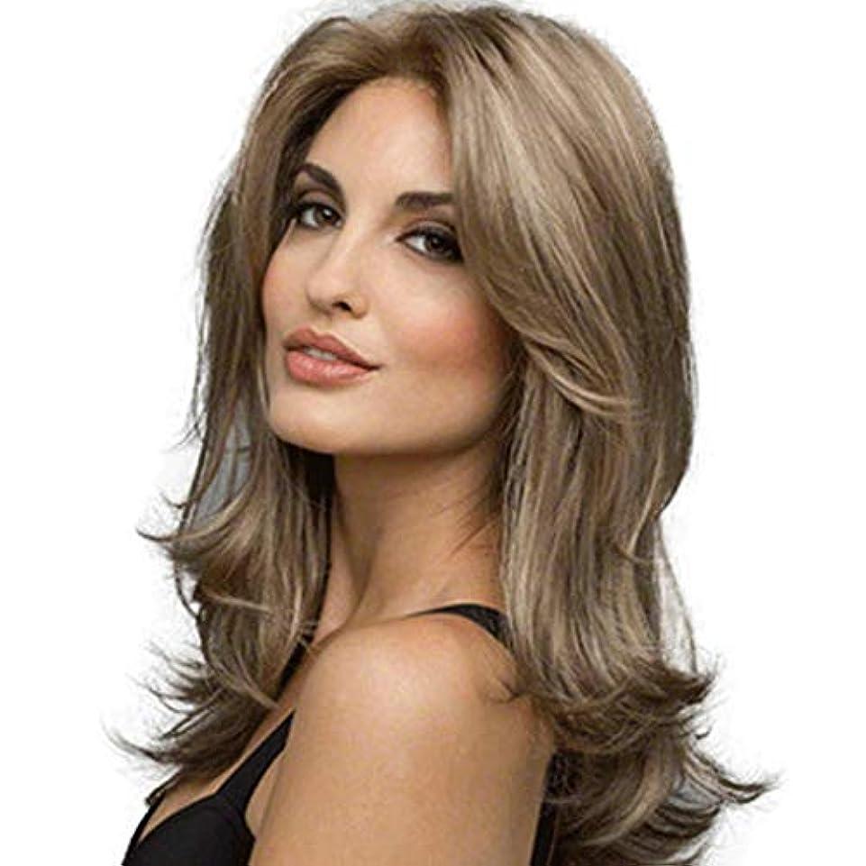 ソース肥満砲兵ロングロール髪かつら女性化学繊維毎日デートヘッドギア