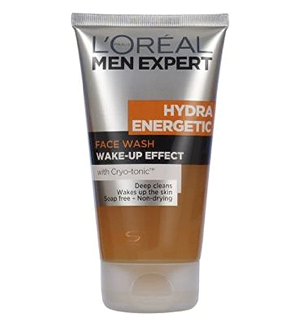 ロレアルの男性の専門家ヒドラエネルギッシュな洗顔150ミリリットル (L'Oreal) (x2) - L'Oreal Men Expert Hydra Energetic Face Wash 150ml (Pack of...
