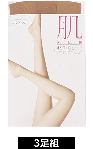 (厚木)ATSUGI長襪ASTIGU(Asutigu)[皮膚]皮膚感覺長襪<3雙組>