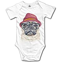 Hipster Pug Dog Cotton Infant Onesie Newborn Clothes