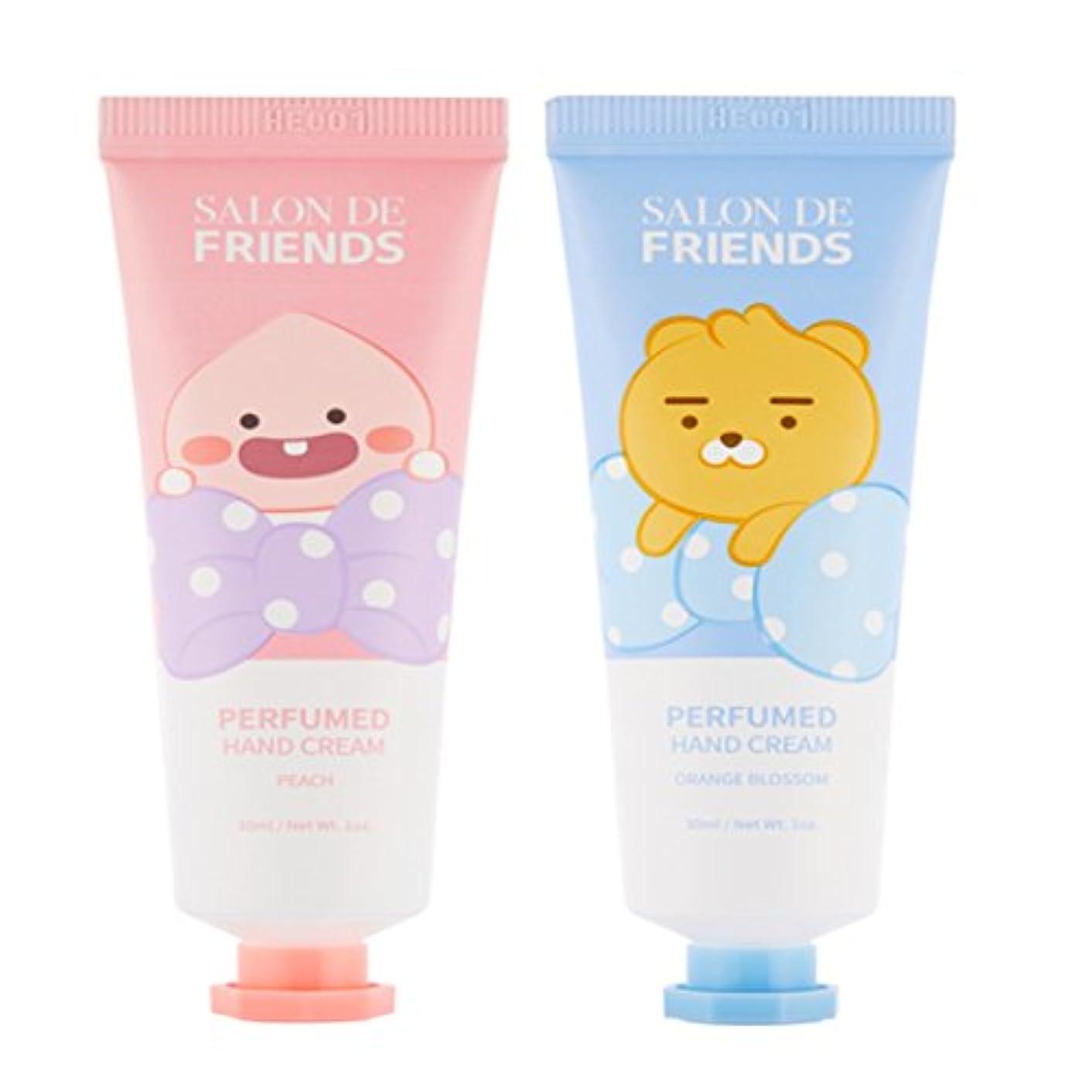 噴出する経済ジャニスカカオフレンズ kakaofriends NEW 2018.06ハンドクリーム Salon de Hand Cream (ライアン&オピッチ) [並行輸入品]