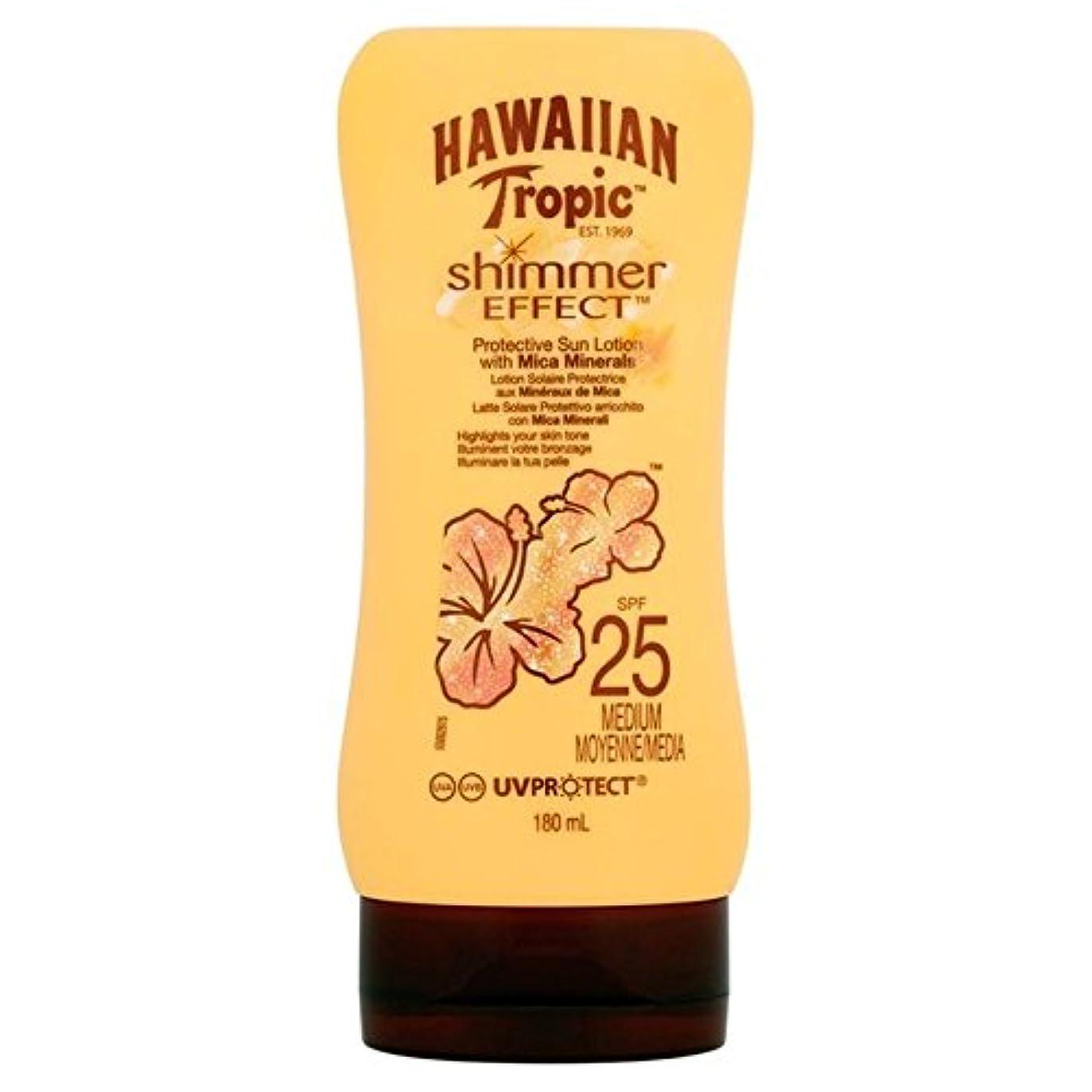 病院翻訳欠席Hawaiian Tropic Silk Shimmer Effect Sun Cream SPF 25 180ml (Pack of 6) - 南国ハワイシルクきらめき効果の日焼け止めクリーム 25 180ミリリットル...
