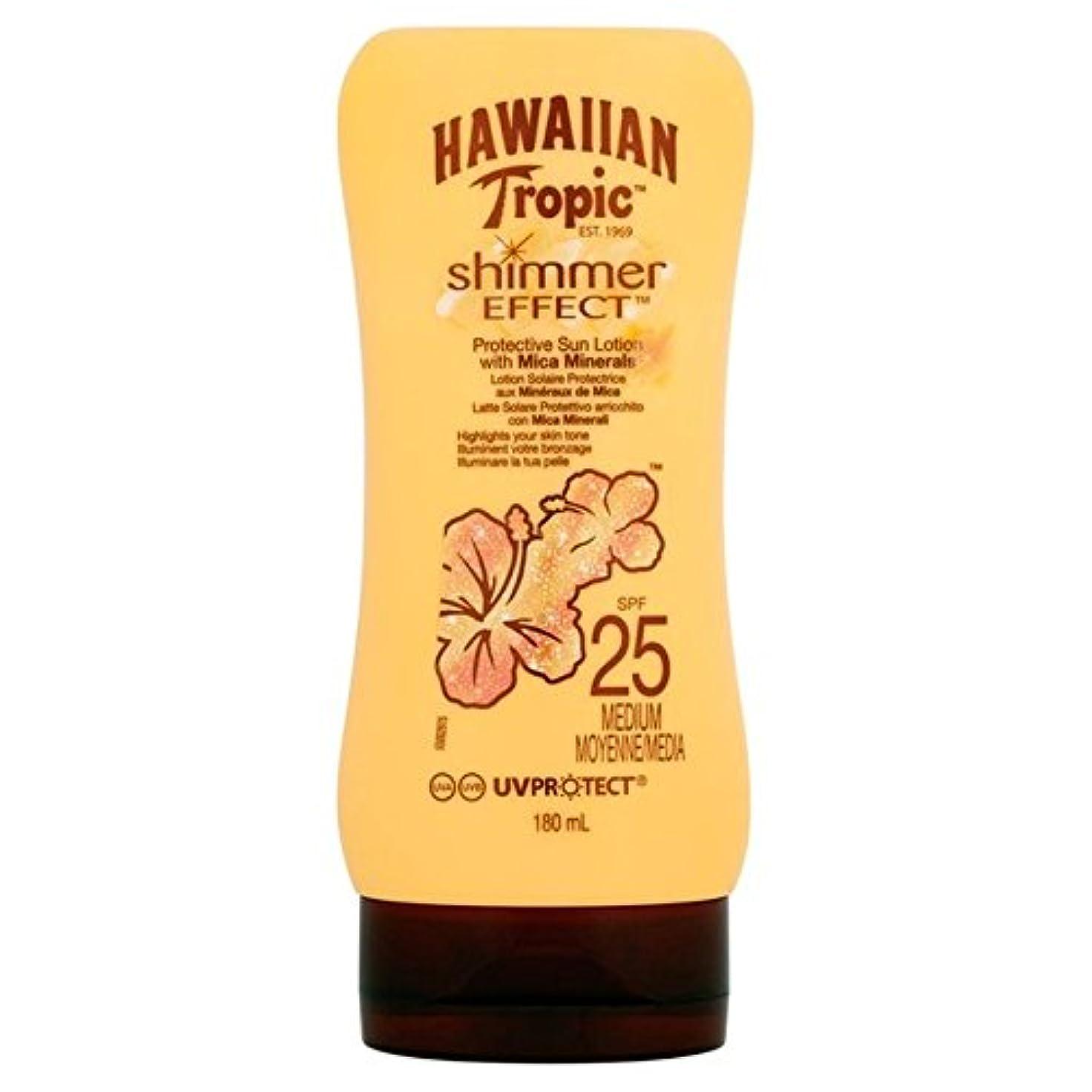 別れる特性マニア南国ハワイシルクきらめき効果の日焼け止めクリーム 25 180ミリリットル x4 - Hawaiian Tropic Silk Shimmer Effect Sun Cream SPF 25 180ml (Pack of...