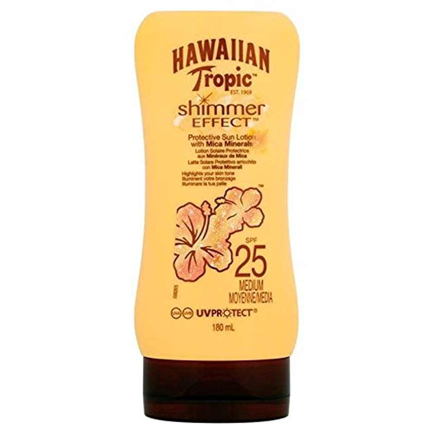 アトラス属するなすHawaiian Tropic Silk Shimmer Effect Sun Cream SPF 25 180ml (Pack of 6) - 南国ハワイシルクきらめき効果の日焼け止めクリーム 25 180ミリリットル...