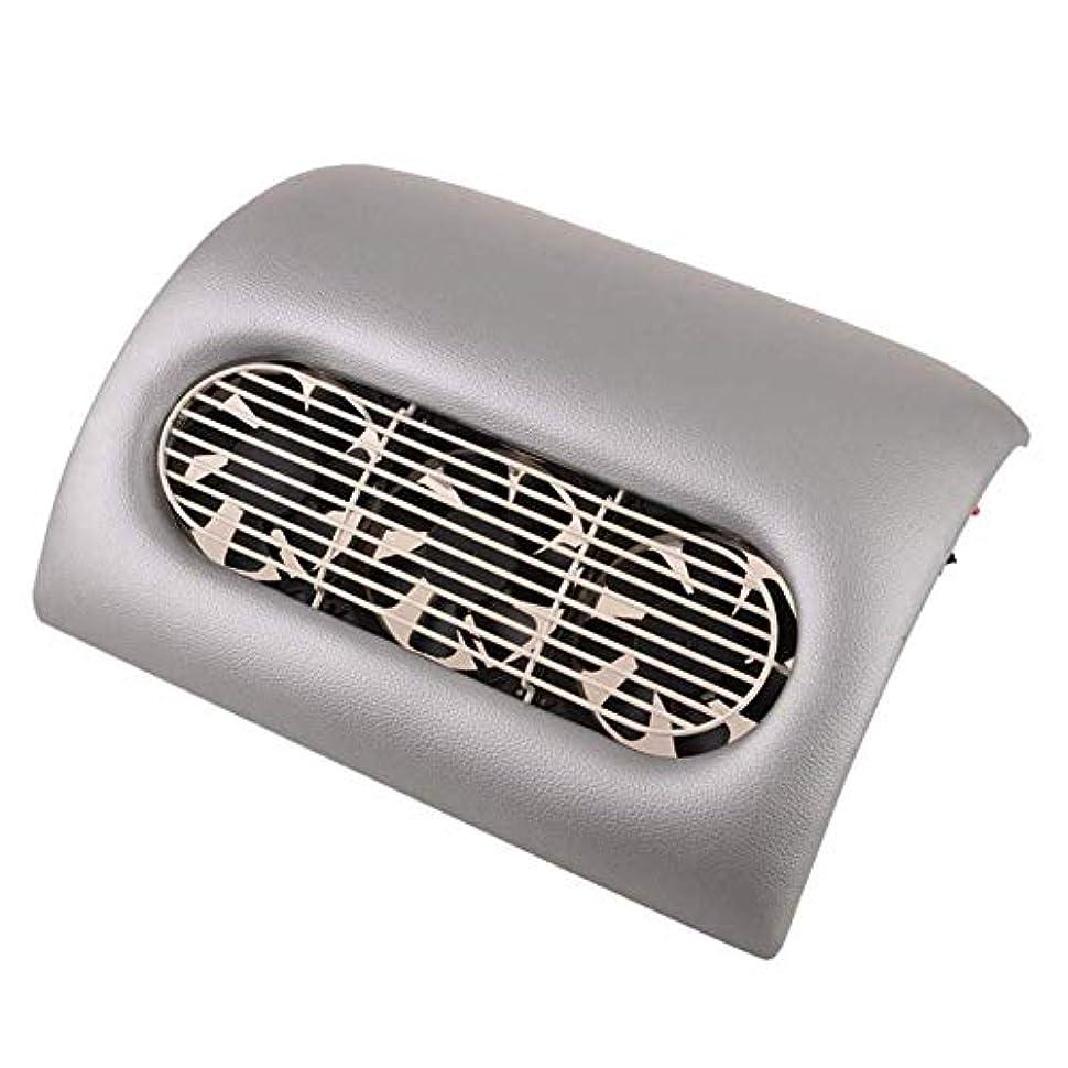 砲撃昨日麺15ワットネイルダストサクションクリーナー美容院機器コレクターサクションネイルツールアートマニキュア機クリーニング装置、グレー