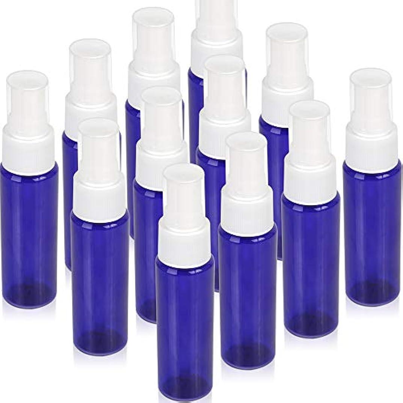 容赦ないライトニング社員Teenitor スプレーボトル 30ml 12本 霧吹き アトマイザー スプレー容器 アロマスプレー 香水スプレー 詰め替え容器 キャップ付 青色 PET製